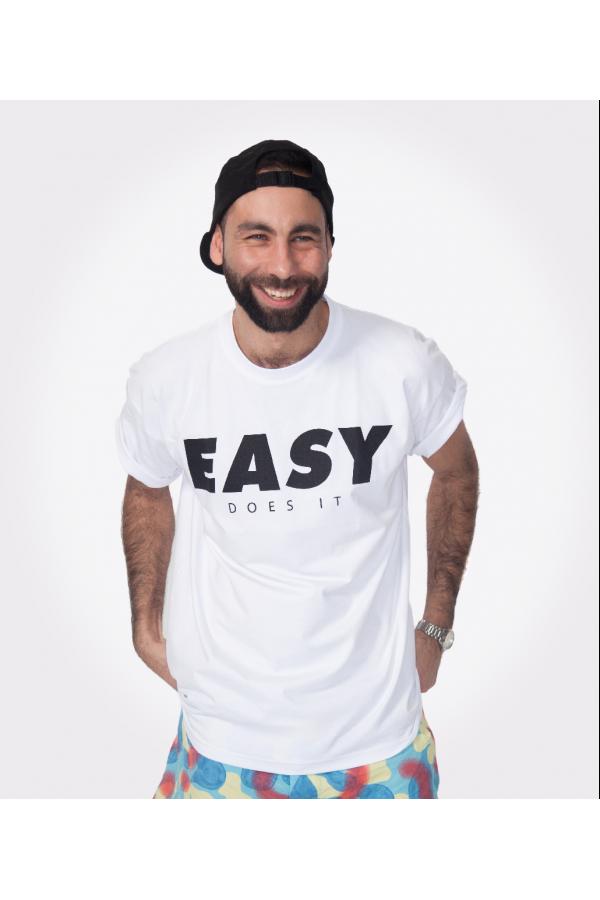 EASY Shirt White Blk
