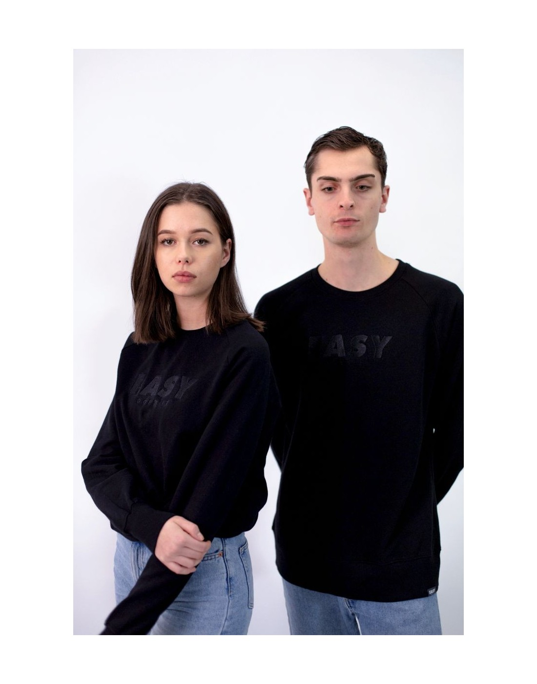 EASY SWEATER CREWNECK SCHWARZ